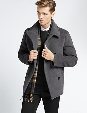 Wool Flannel Peacoat