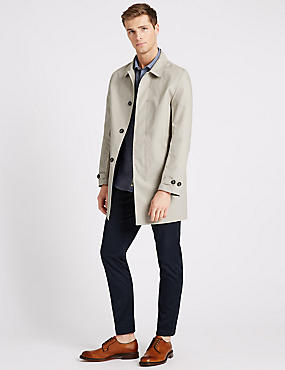 Mens Trench Coats | Water Resistant Mac Coats For Men | M&S