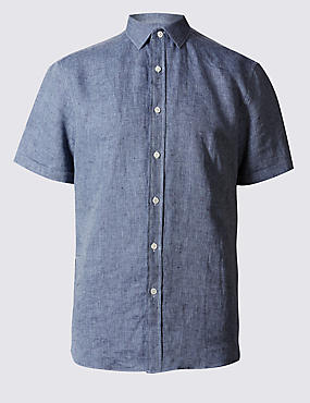 Irish Linen Short Sleeve Shirt