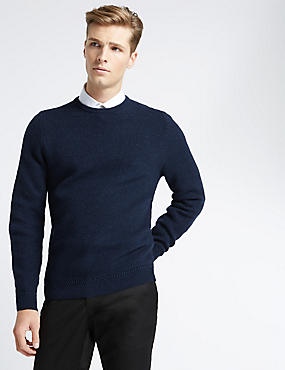 Cashmere Honeycomb Stitch Crew Neck Jumper
