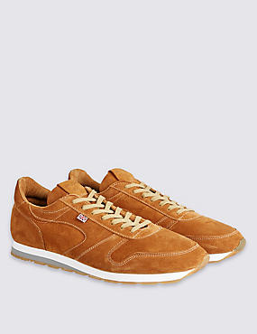 Seoul 88 Tan Suede Trainers