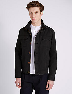 Double Chest Pocket Utility Jacket