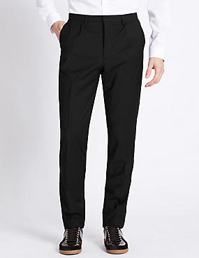 Flat Front Trouser with Side Seam Detail
