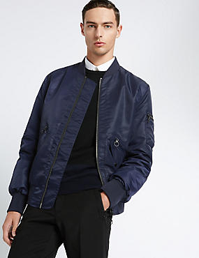Seam Detail MA-1 Bomber Jacket
