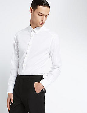 Stretch Cotton Long Sleeve Shirt