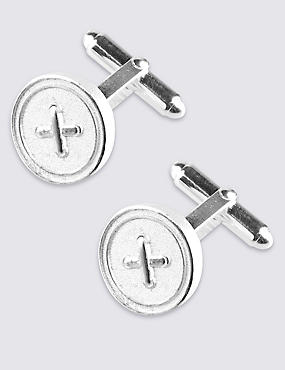 Made in the UK Round Button Cufflinks