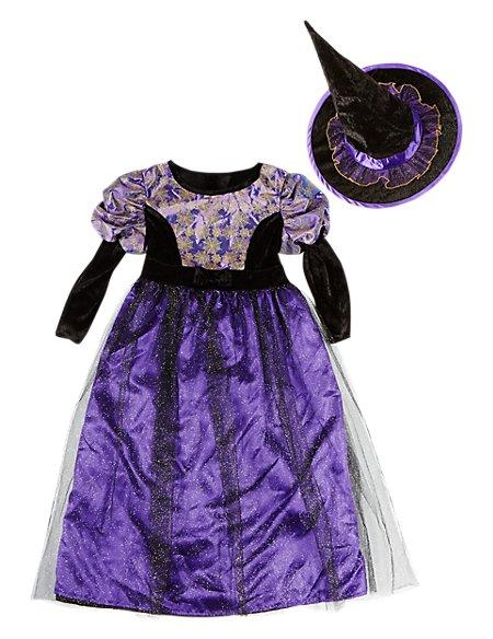 Kids' Witch Halloween Costume | M&S