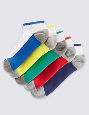 5 Pairs of Freshfeet™ Trainer Liner Socks (3-16 Years)