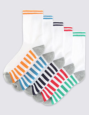 5 Pairs of Cotton Rich Freshfeet™ Sports Socks (3-16 Years)