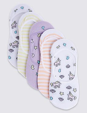5 Pairs of Cotton Rich Footsies with Freshfeet™ (3-14 Years)