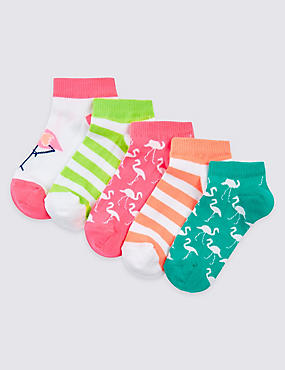 5 Pairs of Freshfeet™ Trainer Liner Socks (3-14 Years)
