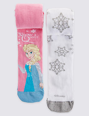 2 Pairs of Freshfeet™ Disney Frozen Tights (2-10 Years)