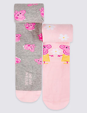 2 Pairs of Peppa Pig™ Tights (2-8 Years)
