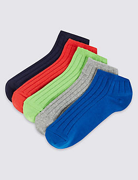 5 Pairs of Trainer Liner Socks (3-14 Years)
