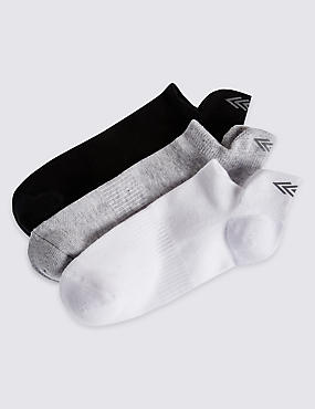 3 Pack Cotton Rich Trainer Liner Socks (3-16 Years)