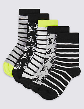 5 Pairs of Cotton Rich Socks (7-14 Years)