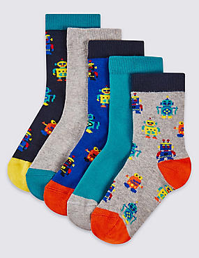 5 Pairs of Assorted Socks (1-6 Years)