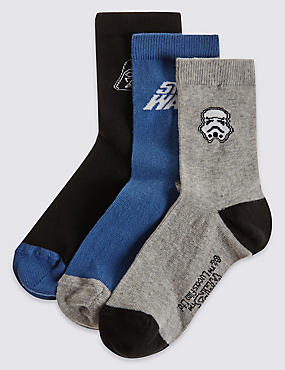 3 Pairs of Star Wars™ Socks (3-14 Years)