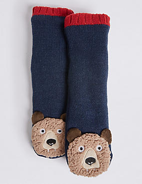 Bear Moccasin Socks (1-14 Years)