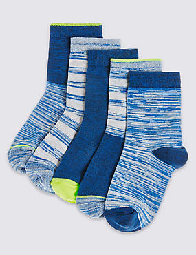 5 Pairs of Freshfeet™ Cotton Rich Socks (12 Months - 14 Years)