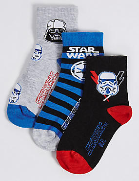 3 Pairs of Cotton Rich Star Wars™ Socks (1-3 Years)