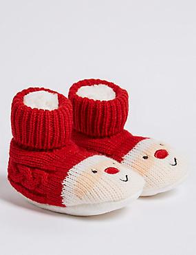 Santa Booties (0-24 Months), RED MIX, catlanding