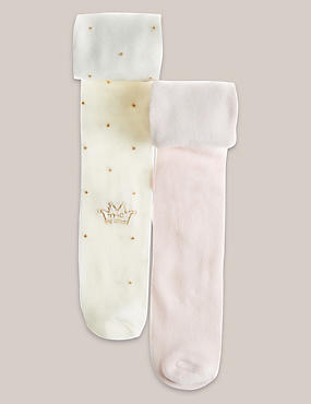 2 Pack Spot and Crown Tights (0 - 5 Years)