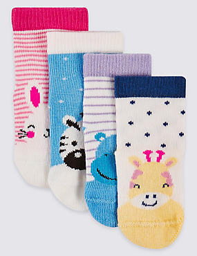 4 Pairs of Novelty Socks (0-24 Months)
