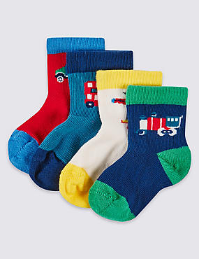 4 Pairs of Assorted Socks (0-24 Months)