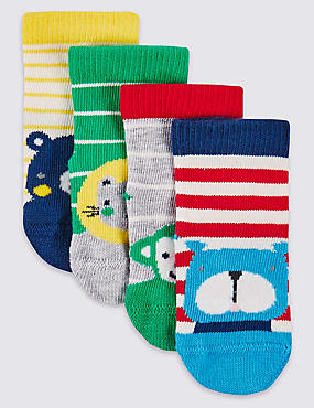 4 Pairs of Designed Socks (0-24 Months)