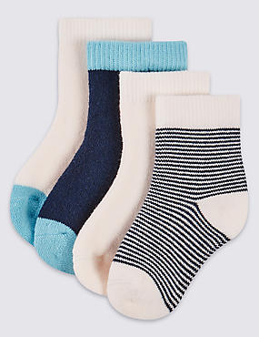 4 Pairs of StaySoft™ Socks (0-12 Months)