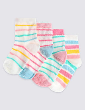 4 Pairs of Striped Socks (0-24 Months)