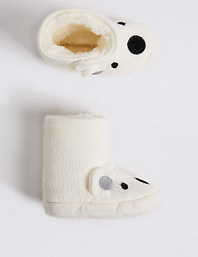 Polar Bear Slipper Booties (0-24 Months)