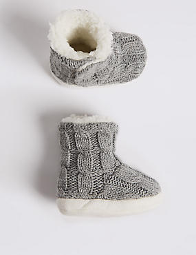 Moccasin Slipper Booties (0-24 Months)