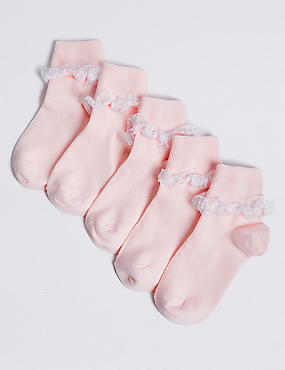 5 Pairs of Organza Ankle Socks (1-6 Years)