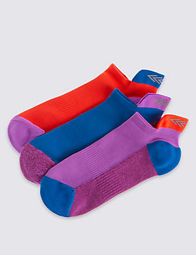 3 Pairs of Freshfeet™ Trainer Liner Socks (3-14 Years)