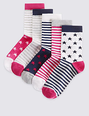 5 Pairs of Cotton Rich Socks with Freshfeet™ (12 Months - 14 Years)