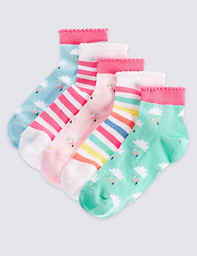 5 Pack of Cotton Rich Socks with Freshfeet™ (12 Months - 14 Years)
