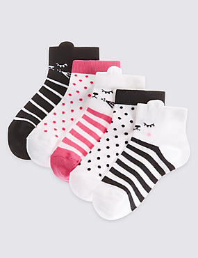 5 Pairs of Cotton Rich Socks with Freshfeet™ (12 Months - 6 Years)