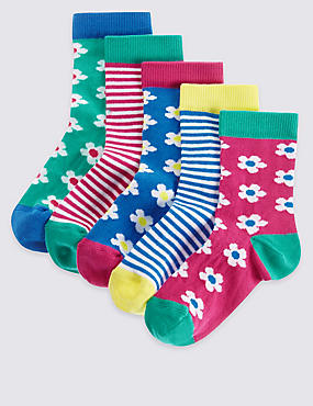 5 Pairs of Cotton Rich Socks with Freshfeet™ (1-6 Years)