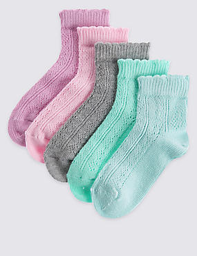 5 Pack of Freshfeet™ Cotton Rich Socks (12 Months - 14 Years)
