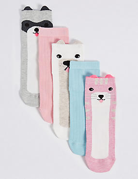 5 Pairs of Cotton Rich Freshfeet™ Socks (1-14 Years)