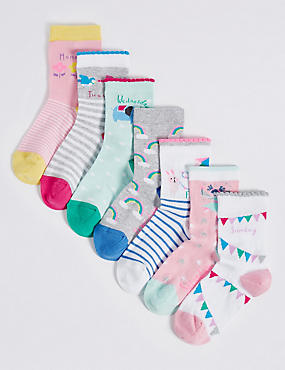 7 Pairs of Cotton Rich Freshfeet™ Socks (1-6 Years)