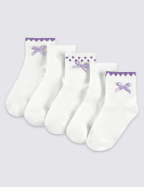 5 Pairs of Freshfeet™ Cotton Rich Socks (2-14 Years)