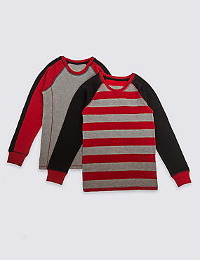 2 Pack Cotton Blend Thermal Tops (18 Months - 16 Years)