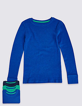 3 Pack Long Sleeve Thermal T-Shirts (18 Months - 16 Years)