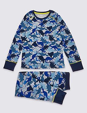 Dino Camouflage Long Sleeve Thermal Set (3-16 Years)