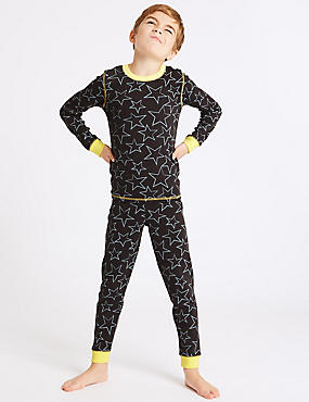 Cotton Blend Star Print Thermal Set (18 Months - 16 Years)