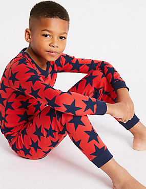 Star Print Thermal Set (18 Months - 16 Years), RED MIX, catlanding