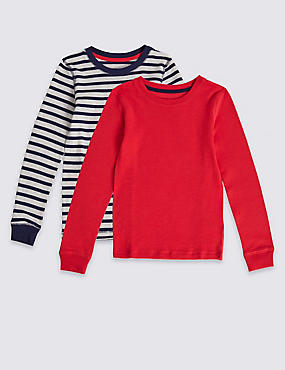2 Pack Thermal Tops (18 Months - 16 Years), RED MIX, catlanding